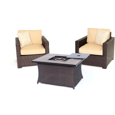 Abraham 3 Piece Deep Seating Group with Cushion Color: Sahara Sand