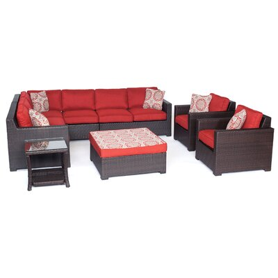 Abraham 8-Piece Lounge Set Color: Autumn Berry