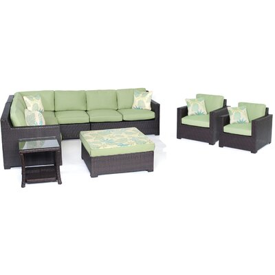 Abraham 8-Piece Lounge Set Color: Avocado Green