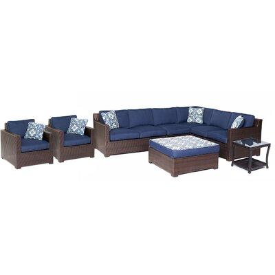 Abraham 8-Piece Lounge Set Color: Navy Blue