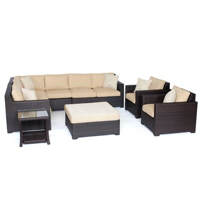 Abraham 8-Piece Lounge Set Color: Sahara Sand