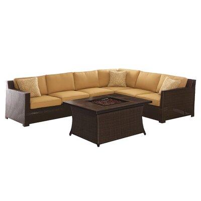 Abraham 5 Piece Deep Seating Group with Cushions Fabric: Sahara Sand