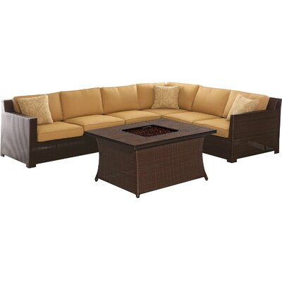 Abraham 5 Piece Deep Seating Group with Cushions Fabric: Sahara Sand