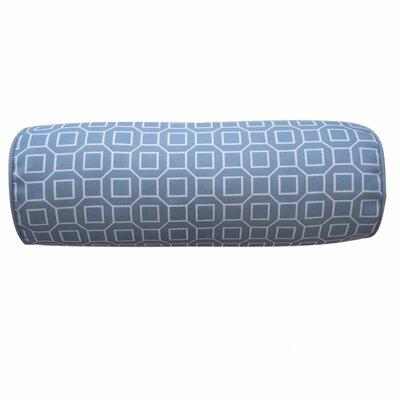 Haney Outdoor Bolster Pillow Color: Robin