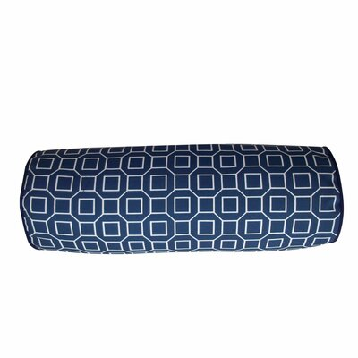 Haney Outdoor Bolster Pillow Color: Slate Blue