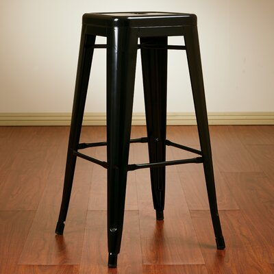 Blaney 30 Bar Stool Finish: Black
