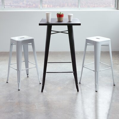 Blaney 30 Bar Stool Finish: White