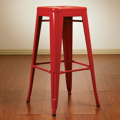 Blaney 30 Bar Stool Finish: Red