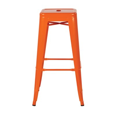 Blaney 30 Bar Stool Finish: Orange