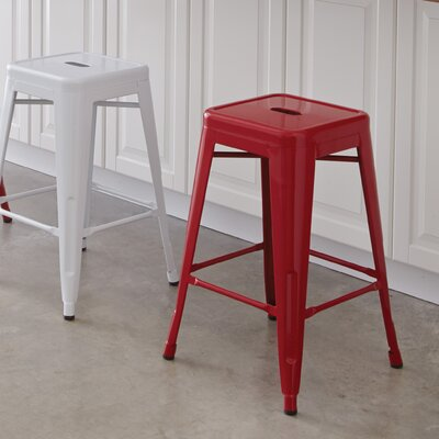 Blaney 24 inch Bar Stool Finish: Red