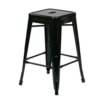 Blaney 24 Bar Stool Finish: Black