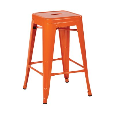 Blaney 24 Bar Stool Finish: Orange