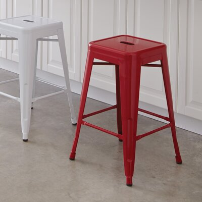 Blaney 24 Bar Stool Finish: Red