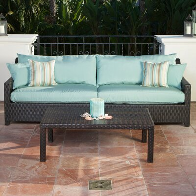 Northridge 2 Piece Deep Seating Group with Cushion Fabric: Bliss Blue