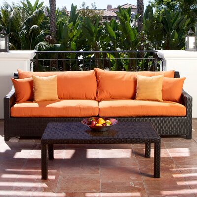 Northridge 2 Piece Deep Seating Group with Cushion Fabric: Tika Orange