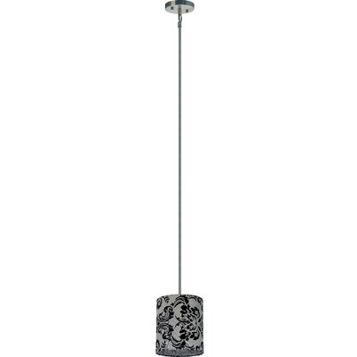 Olivo 1-Light Drum Pendant Shade Color: Gray Decadence
