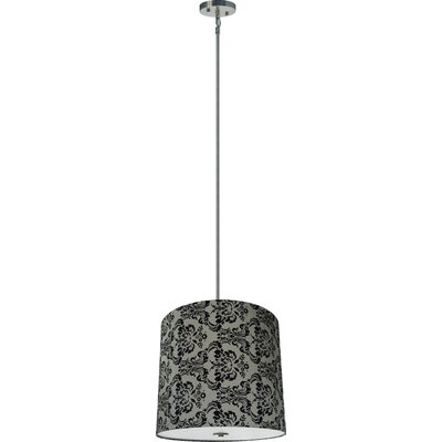 Olivo 5-Light Drum Pendant Shade Color: Gray Decadence