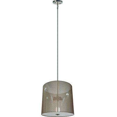 Olivo 5-Light Drum Pendant Shade Color: Lustrous Steel