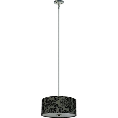 Olivo 3-Light Drum Chandelier Shade Color: Gray Decadence
