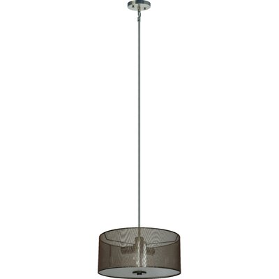 Olivo 3-Light Drum Chandelier Shade Color: Lustrous Steel
