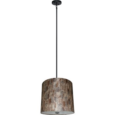 Olivo 5-Light Shaded Chandelier Shade Color: Scriptive Cinnamon
