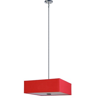 Olivo 3-Light Shaded Chandelier Shade Color: Chili Pepper Red