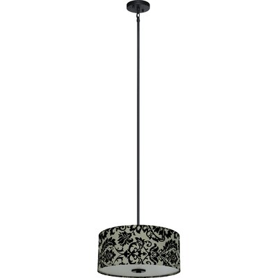 Olivo 3-Light Drum Pendant Shade Color: White Decadence
