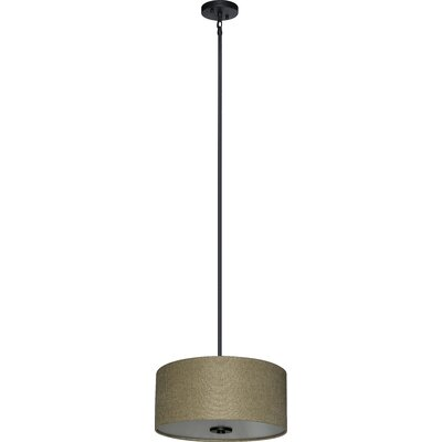 Olivo 3-Light Drum Pendant Shade Color: Woven Basket