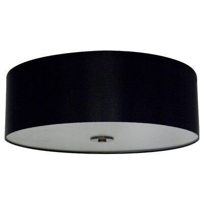 Olivo 22 Silk Drum Lamp Shade Finish: Black Stealth