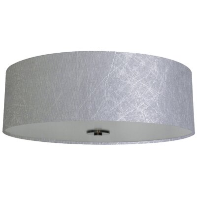 Olivo 22 Silk Drum Lamp Shade Finish: Twisted Silver