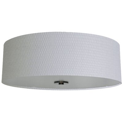 Olivo 22 Silk Drum Lamp Shade Finish: Milky Weave