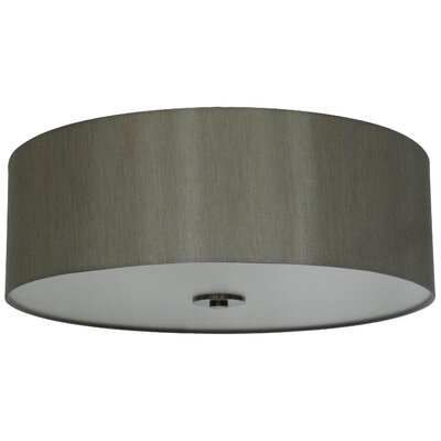 Olivo 22 Silk Drum Lamp Shade Finish: Toffee Crunch