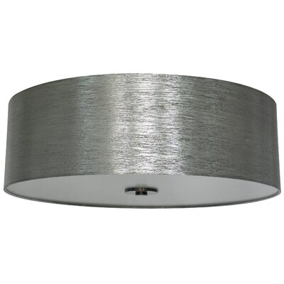 Olivo 22 Silk Drum Lamp Shade Finish: Starlight Weave