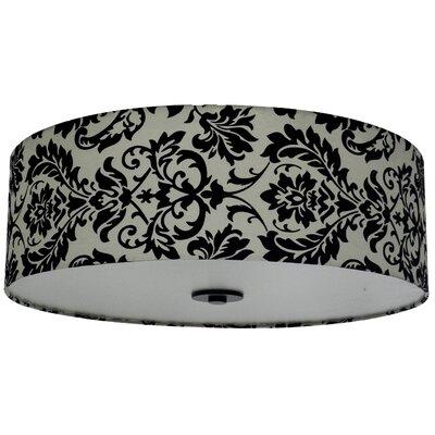 Olivo 22 Silk Drum Lamp Shade Finish: White Decadence