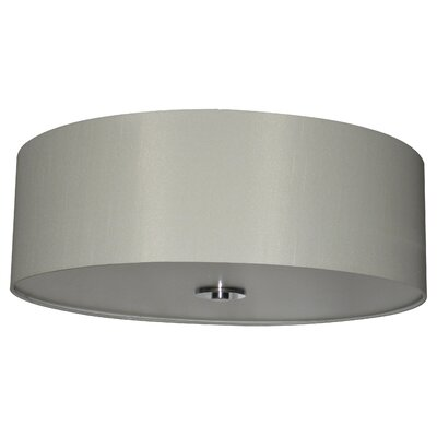 Olivo 22 Silk Drum Pendant Shade Finish: Belvedere Cream