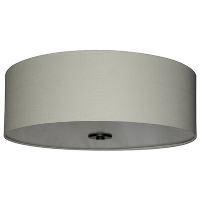 Olivo 22 Silk Drum Lamp Shade Finish: Creme Brulee Weave
