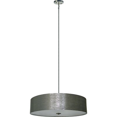 Olivo 5-Light Drum Pendant Shade Color: Starlight Weave