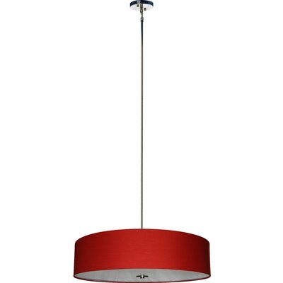 Olivo 5-Light Drum Pendant Shade Color: Chili Pepper Red