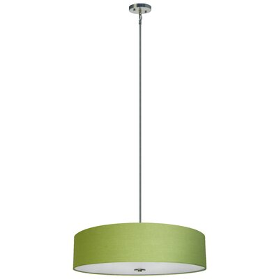 Olivo 5-Light Drum Pendant Shade Color: Rich Lime