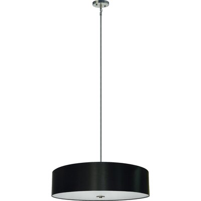 Olivo 5-Light Drum Pendant Shade Color: Black Stealth