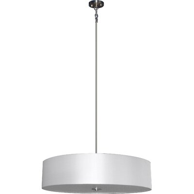 Olivo 5-Light Drum Pendant Shade Color: Pristine White