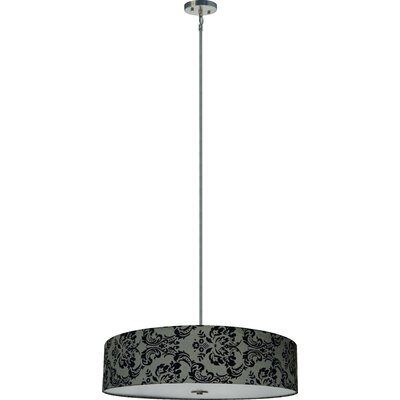 Olivo 5-Light Drum Chandelier Shade Color: Gray Decadence