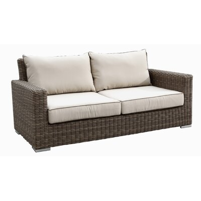 Hasler Loveseat with Cushions Fabric: Canvas Coco