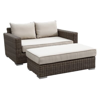 Hasler Deep Seating Double Chaise with Ottoman Fabric: Canvas Ginkgo