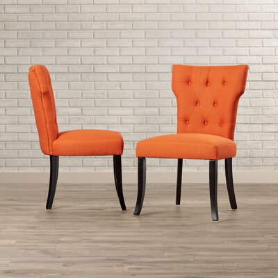 Vangilder Parsons Chair Upholstery: Orange