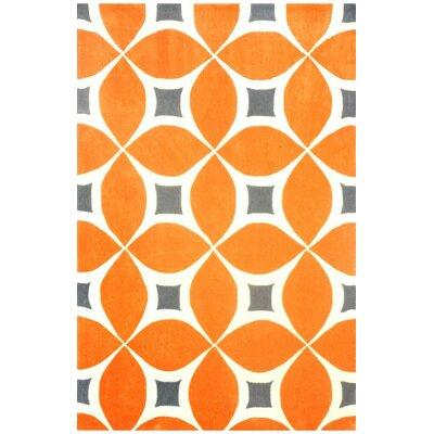 Sorrento Hand Woven Orange Area Rug Rug Size: Runner 26 x 8