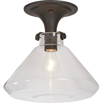 Bunnell 1-Light Semi Flush Mount Finish: Oil Rubbed Bronze