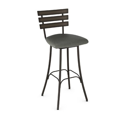 Bax 30.75 inch Swivel Bar Stool Finish: Semi-Transparent/Medium Grey