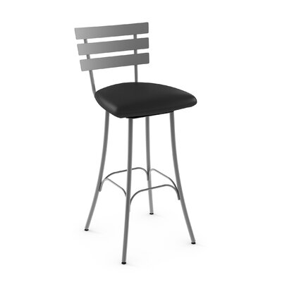 Bax 30.75 Swivel Bar Stool Finish: Glossy Grey/Black