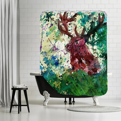 Markus Bleichner Baden Party Deer Shower Curtain